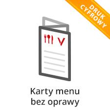 Karty menu bez oprawy