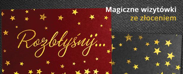 Magiczne wizytówki ze złoceniem