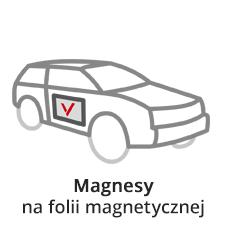 Naklejki magnetyczne magnesy