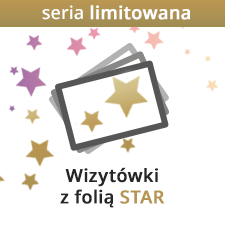 Wizytówki z folią STAR