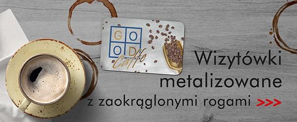 Wizytówki metalizowane z zaokrąglonymi rogami