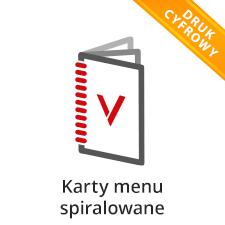 Karty menu spiralowane
