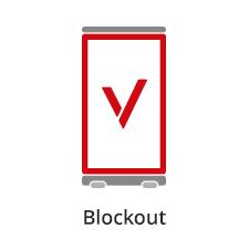 blockout pet materiał na reklamę typu rollup