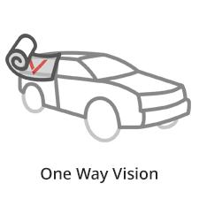 folia one way vision do witryn sklepowych i oklejania pojazdów