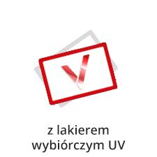 druk wizytówek z lakierem wybiórczym UV