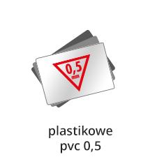 wizytówki plastik
