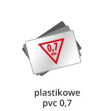 druk wizytówek plastikowych 0,7 mm