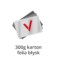 wizytówki foliowane na kartonie