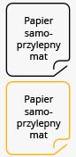 Papier samoprzylepny mat