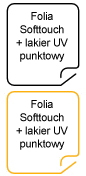 Folia Soft Touch + lakier punktowy UV