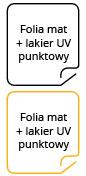 Folia mat + lakier punktowy UV